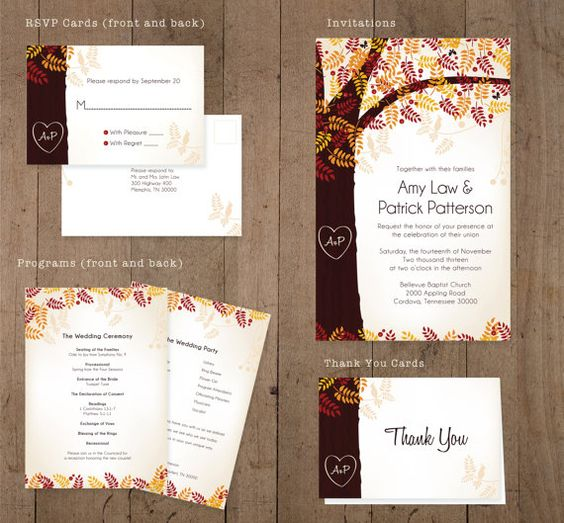 Custom DIY Wedding Invitations Program Thank by EquipCreativeInk, $95.00
