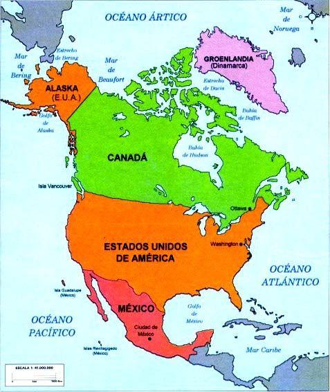 Division Politica De America Del Norte Paises Y Capitales Country Maps Mom Dad Tattoos Dad Tattoos