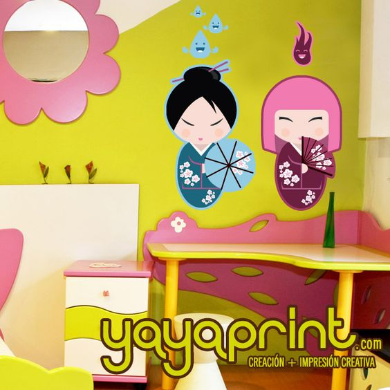 Mu ecas japonesas japanese for Stickers habitacion nina