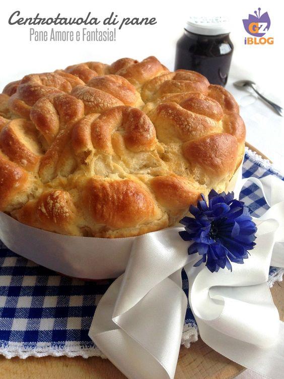 Centrotavola di pane per le feste - simil pan brioche