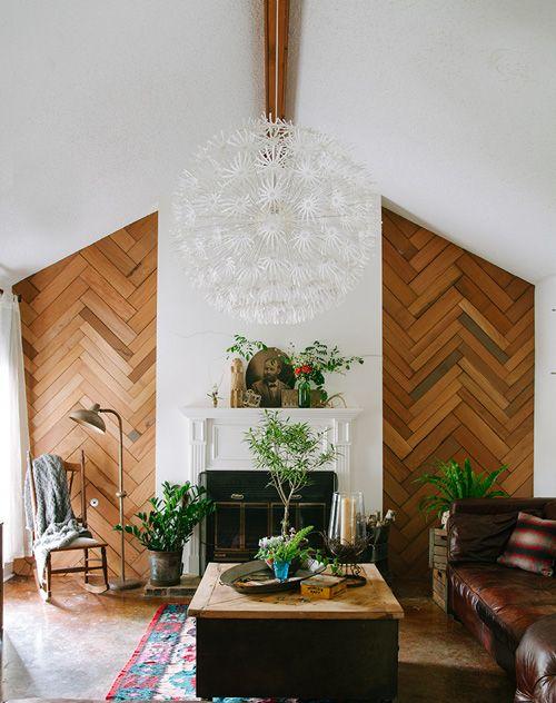 Modern Wood Accent Wall Ideas Herringbone Wall Home Decor