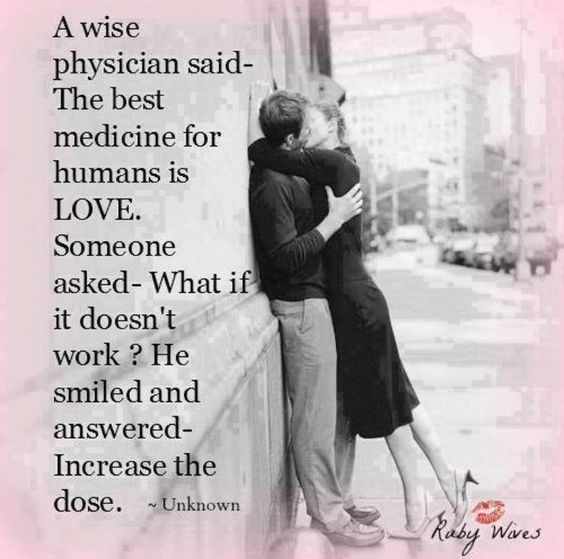 The best medicine for humans is love  Follow best love quotes for more great quotes!