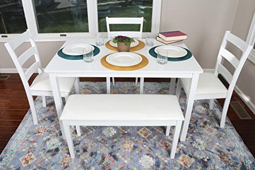 Home Life 4 Person 5 Piece Kitchen Dining Table Set White Wall S Furniture Decor Dining Table In Kitchen Dining Table Dinning Room Decor