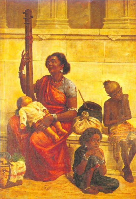 2 paintings of raja ravi varma biography