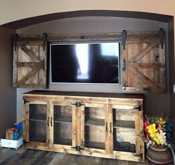 Sliding barn doors tvs and door ideas on pinterest for Door idea pinterest