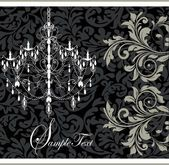 Ilustración con elementos florales y araña — Ilustración de stock #7404003