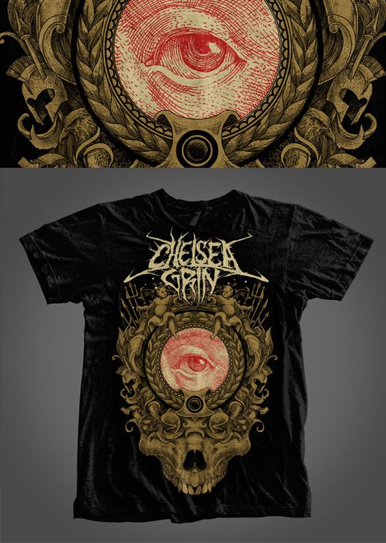 CHELSEA GRIN WOLFKEYS DEATHCORE METALCORE GIRL NEW BLACK LADY T-SHIRT