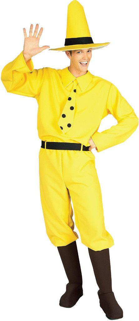 men's costume: curious george adult large