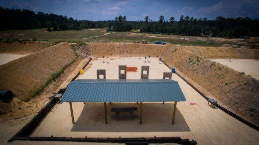 Covered Shooting Position And Full Berm Enclosure Shooting Range Outdoor Shooting Range Firing Range