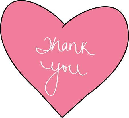 "thank you clip art | Pink Thank You Heart - pink heart with the words ""Thank You"" on it."