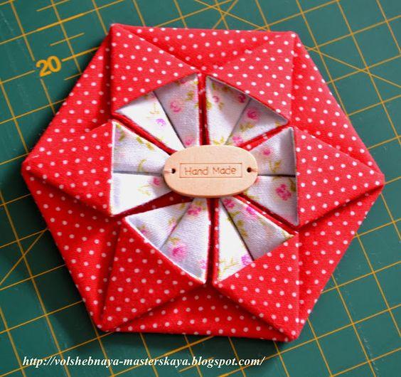 Вероничкина мастерская: Оригами из ткани. Мастер-класс.