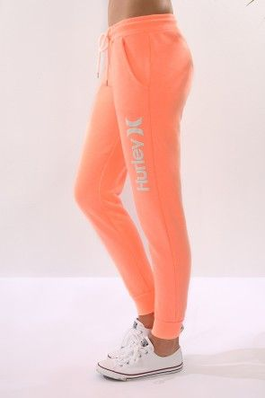 Hurley - Cuffed Track Pant Heather Sunset Glow $69.99 Shop // http://www.jeanjail.com.au/ladies/hurley-cuffed-track-pant-heather-sunset-glow.html