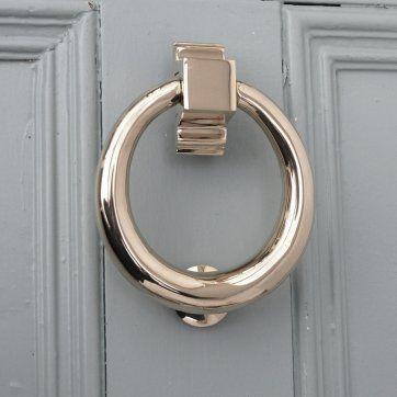 Polished nickel hoop door knocker our new country house - Door knocker nickel ...