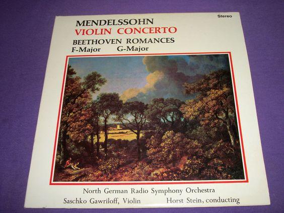 "Mendelssohn Violin Concerto / German Radio Symphony / Saschko Gawriloff / Horst Stein / 12"" Vinyl LP 821"