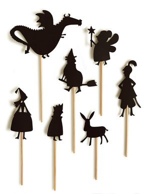 Teatro de sombras de Moulin Roty / shadow puppets from Moulin Roty