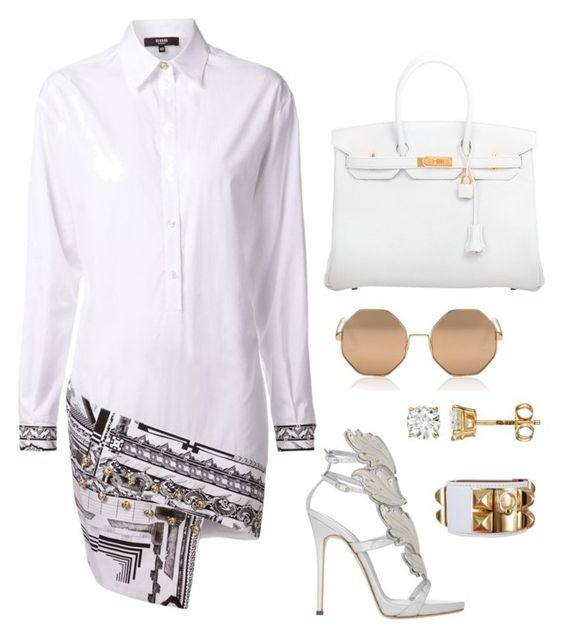 """Untitled #301"" by fashionkill21 ❤ liked on Polyvore featuring Versus, Giuseppe Zanotti, Hermès and Cutler and Gross"