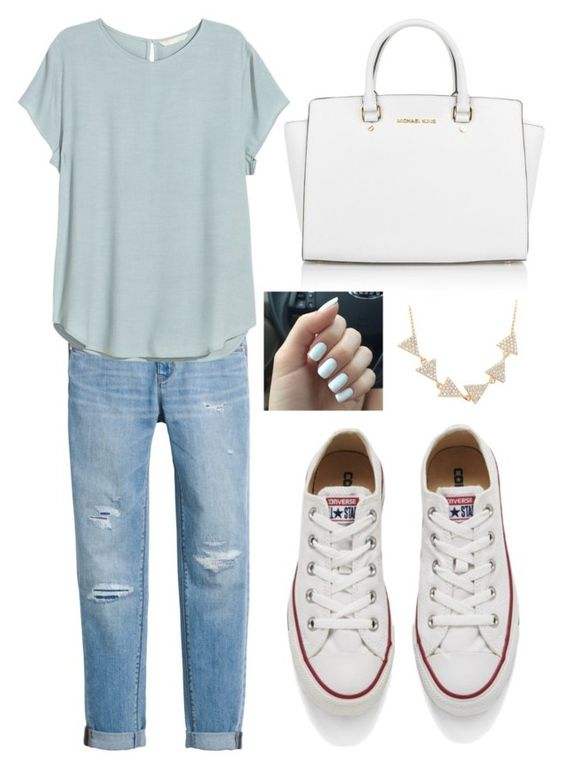"""classical"" by meilleureamies ❤ liked on Polyvore featuring White House Black Market, Michael Kors, Converse, Amorium, H&M, women's clothing, women, female, woman and misses"