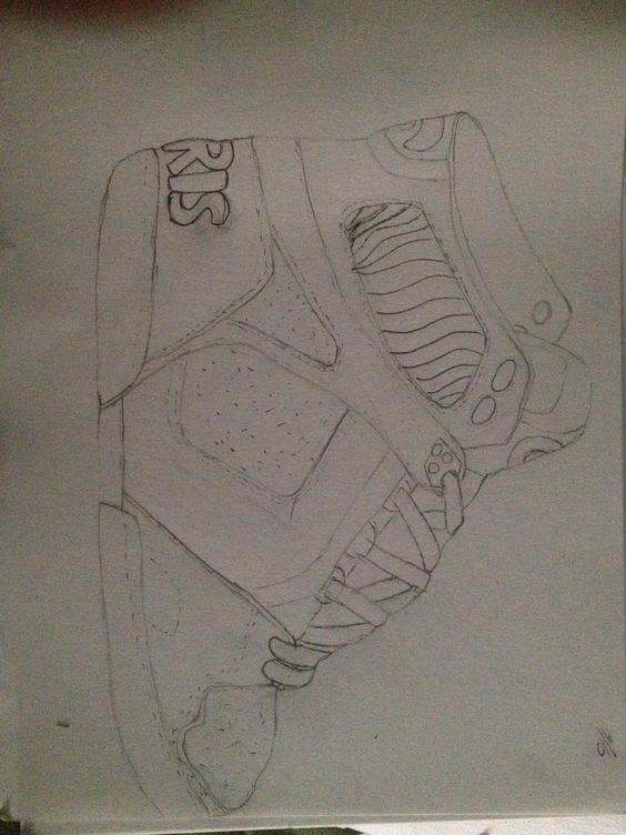 Line Drawing of my shoe
