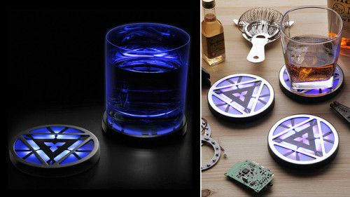 Arc Reactor Coasters Make For Great Geek Gifts | GEARFUSE