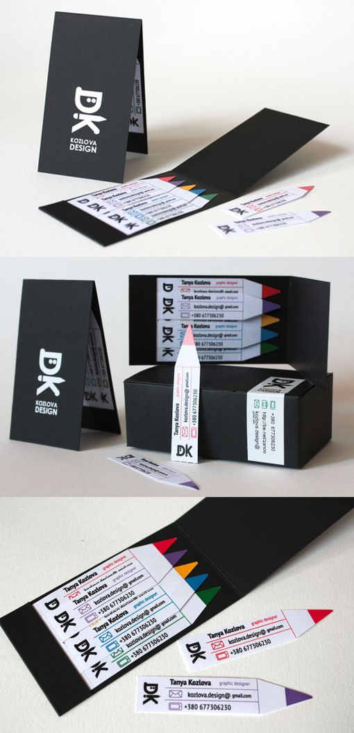 Cleverly designed mini business cards with matchbook style for Matchbook business cards