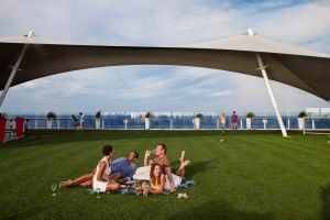 You can play bocce with friends, or have a picnic at sea! Celebrity Cruises' Lawn Club.