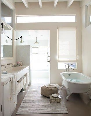 Lovely Photography of Interiors by Amy Neunsinger. I know it's unpractical but I still love the claw foot tub!