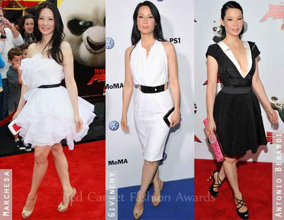 Lucy Liu red carpet style