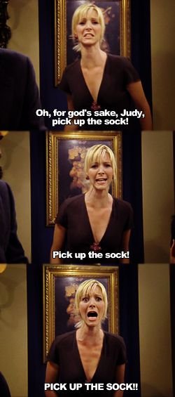 pick up the sock!