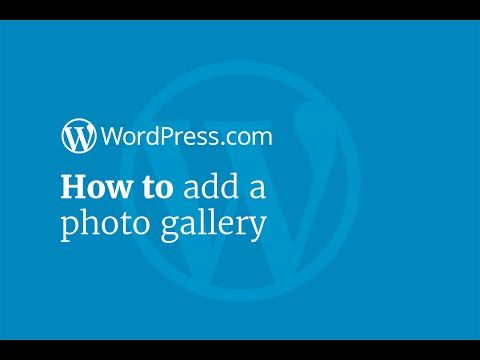 WordPress Tutorial: How to Add a Photo Gallery - YouTube