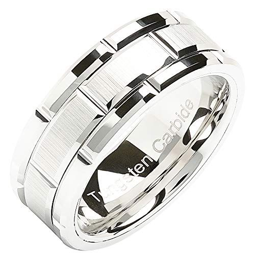 100s Jewelry Tungsten Rings For Men Wedding Band White Go Https Www Amazon Com Dp B07 Tungsten Mens Rings Mens Wedding Bands White Gold Mens Wedding Bands