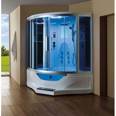 Mesa Combination 61 X 89 Neo Angle Sliding Steam Shower With
