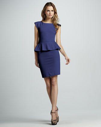 Victoria Peplum Dress by Alice + Olivia at Neiman Marcus