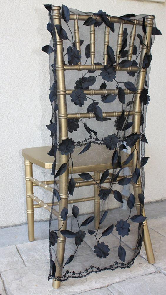 Wedding Chair Cover for Chiavari Chair. $60.00, via Etsy.