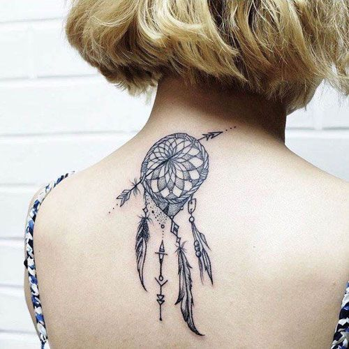 75 Dreamcatcher Tattoos Meanings Designs Ideas 2020 Guide Dream Catcher Tattoo Tattoos For Women Dream Catcher Tattoo Small