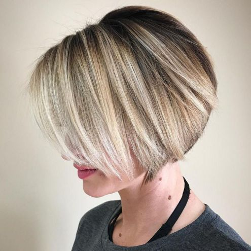 Neat Short Rounded Bob For Straight Hair Haircut For Thick Hair Thick Hair Styles Straight Hairstyles