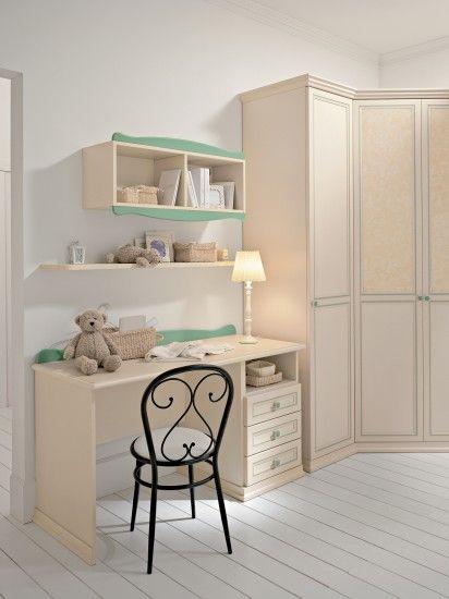 Camerette arcadia scrivania per bambini finitura magnolia e giada colombini colombini - Camerette per ragazzi colombini prezzi ...