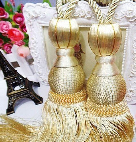 Luxury Tassel Tieback Tie Back Gold Pale Yellow Curtain