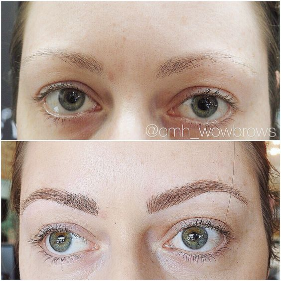 Hair stroke feather touch micro blading natural eyebrow tattooing located in Melbourne Australia.  Www.cmh-wowbrows.com