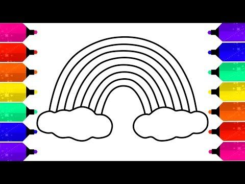 رسم وتلوين قوس قزح للأطفال Coloring Rainbow With Paint And Drawing Youtube Finger Art Youtube Art Magic Fingers