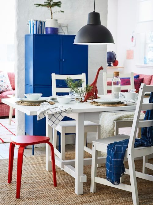 Kyrre Stool Bright Red Ikea In 2020 Dining Table Ikea Wood Dining Table
