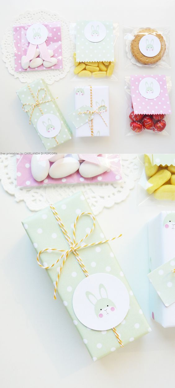 free printable easter wrapping paper | designed by Ghirlanda di Popcorn