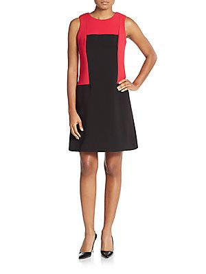 Calvin Klein Two-Tone A-Line Dress