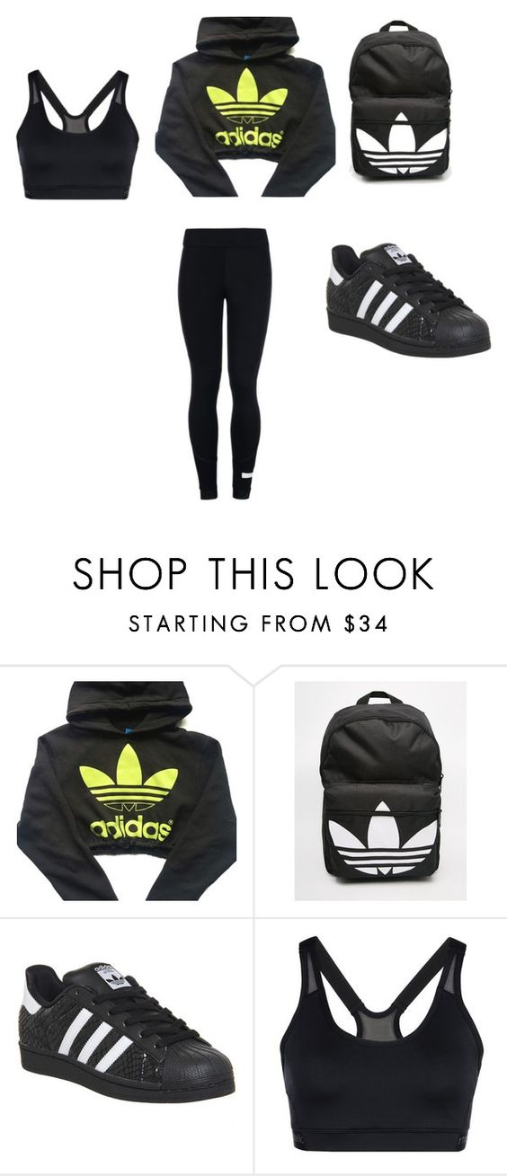 """""""Adidas"""" by aleschmitz-reed on Polyvore featuring adidas"""