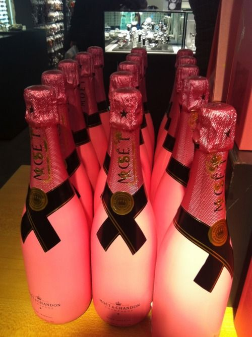 Message on the bottle: Moet & Chandon Rosé Tag Your Moët with a love phrase, table number, or date.     Message in the bottle: well, we'll just leave that up to your guests.