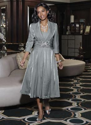 Midnight-Velvet-Silver-Jacket-Dress-Suit-Misses-Size-14-Church ...