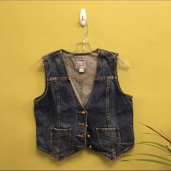 Old navy denim vest Brand new, never worn, would fit a s/m based on how you would like it to fit. feel free to ask me any questions! I'm always open to offers and trades :) Old Navy Jackets & Coats Vests