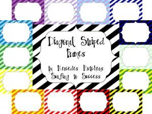 Diagonal Striped Frames  Hurry up! This giveaway promotion ends at 11:59:59PM CST on 09-04-2012