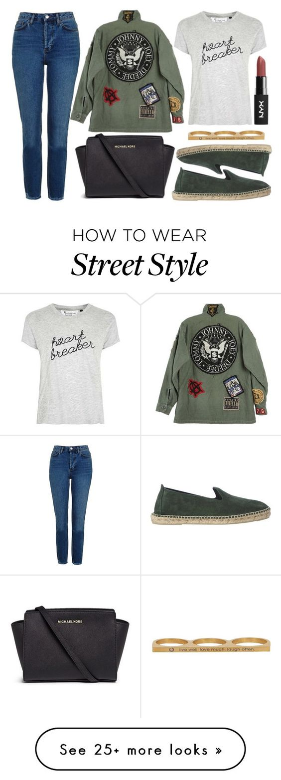 """street style"" by sisaez on Polyvore featuring Topshop, Michael Kors, Tee and Cake and Jaeci"