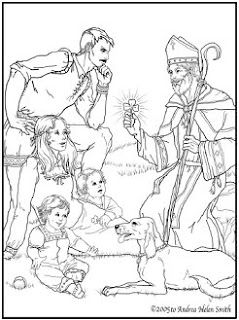 Really beautiful St. Patrick coloring page. Free to print!: