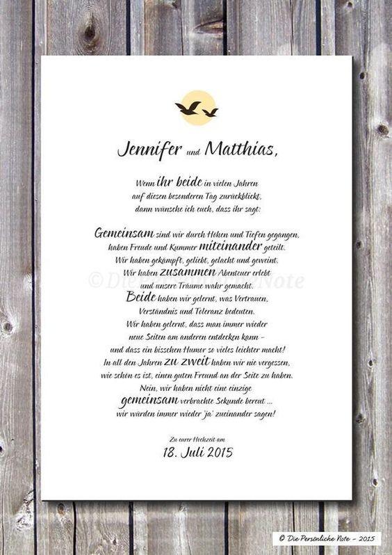 Gastgeschenke - Druck/Print: Segenswunsch - Hochzeit - Ehe - Liebe - ein Designerstück von DiePersoenlicheNote bei DaWanda